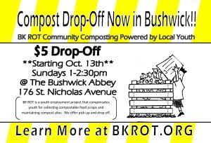 Compost Drop-Off Now in Bushwick!